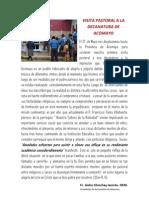 VISITA PASTORAL A LA DECANATURA DE ACOMAYO
