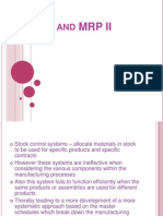 MRP and MRP II