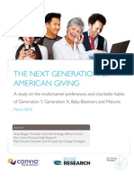 The Next Generation of American Giving