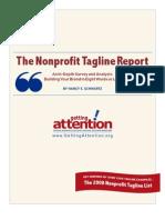 The Non Profit Tagline Report