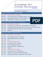 Cardiology 2011:BRITISH CARDIOVASCULAR SOCIETY AND RCP LONDON JOINT COURSE ON DEC,2011