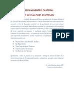 PRIMER ENCUENTRO MISIONERO EN LA DECANATURA DE PARURO