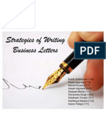 Strategies of Writing Business Letters