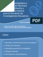 Evaluación pedagógica y tecnológica de recursos educativos abiertos y móviles desarrollados para  la formación de investigadores educativos