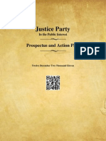 Justice Party Prospectus Action Plan 12 Dec 2011