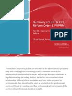Summary of USF ICC Reform - ICC Reform