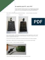 Uso de um teclado numérico para PC