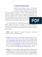 PEST-SWOT-Porter's 5 Forces Theory (2011)