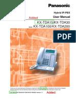KXTDA15 User Manual