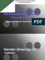 Gender Diversity and Manifestations of Gender Discrimination