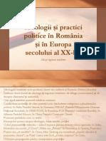 Ideologii și practici politice în România și în