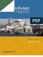 Pre Budget Report (2012 2013)
