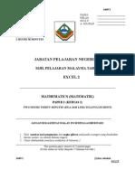 SPM Percubaan 2008 Sabah Mathematics Paper 2