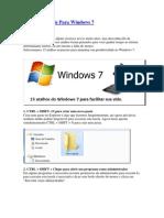 15 Atalhos Úteis Para Windows 7