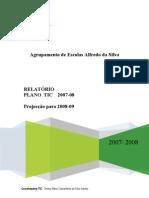 Relatório Final Plano TIC 07-08 e Projecção para 08-09