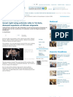 Israel Right-wing Activists Rally in Tel Aviv, Demand Expulsion of African Migrants - Haaretz Daily Newspaper   Israel News