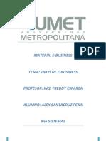 Tipos de E-business Alex Santacruz