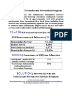 Foreclosure Prevention Services Program Community Steering Committee's sample impact survey