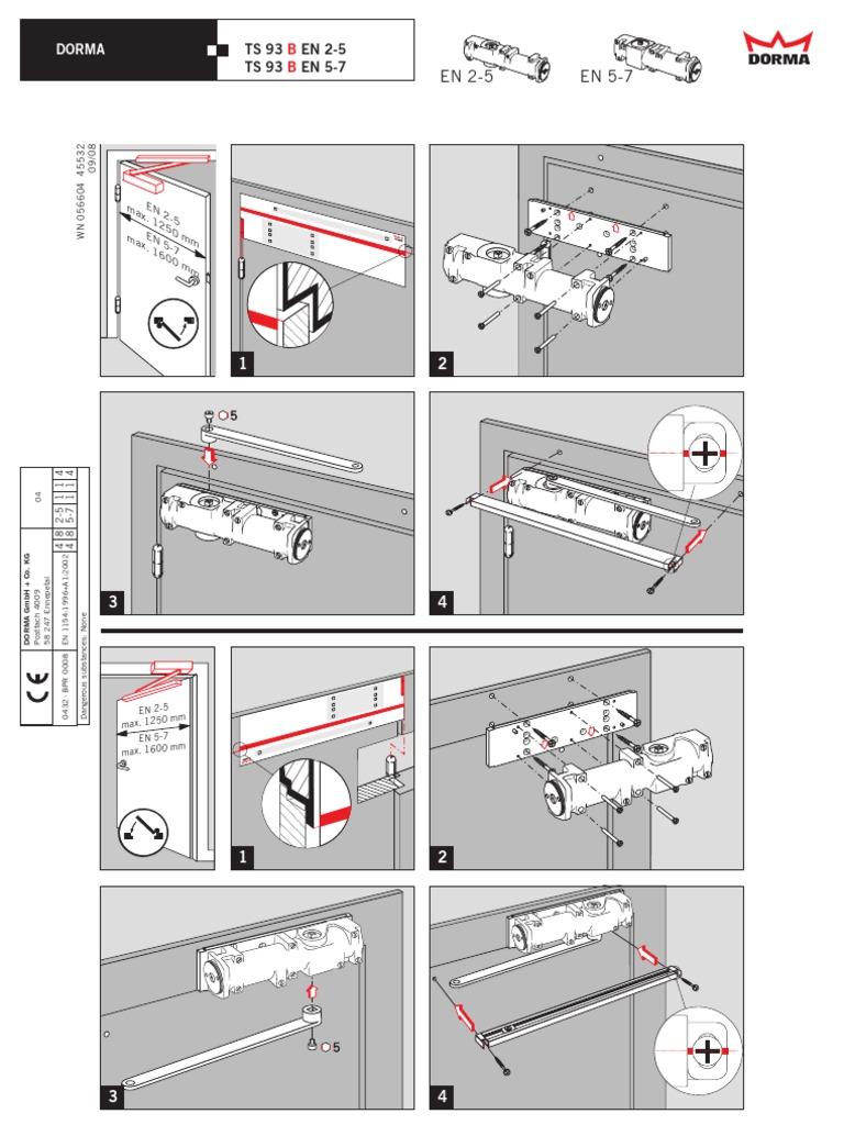 dorma ts 93 montageanleitung. Black Bedroom Furniture Sets. Home Design Ideas