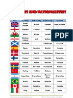 Countries and Nationalities 2011-2012