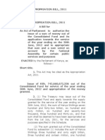 Appropriation Bill 2011