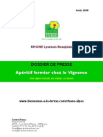 Dossier Presse Apéritif Vigneron