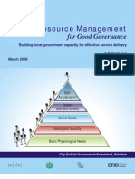 HRM for Good Governance - Building Local Government Capacity for Effective Service Delivery