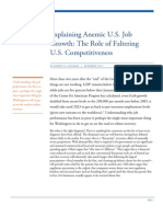 Explaining Anemic U.S. Job Growth