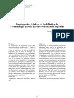 fundamentos teoricos terminologia