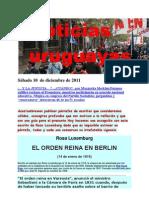 Noticias uruguayas sábado 10  de diciembre de 2011