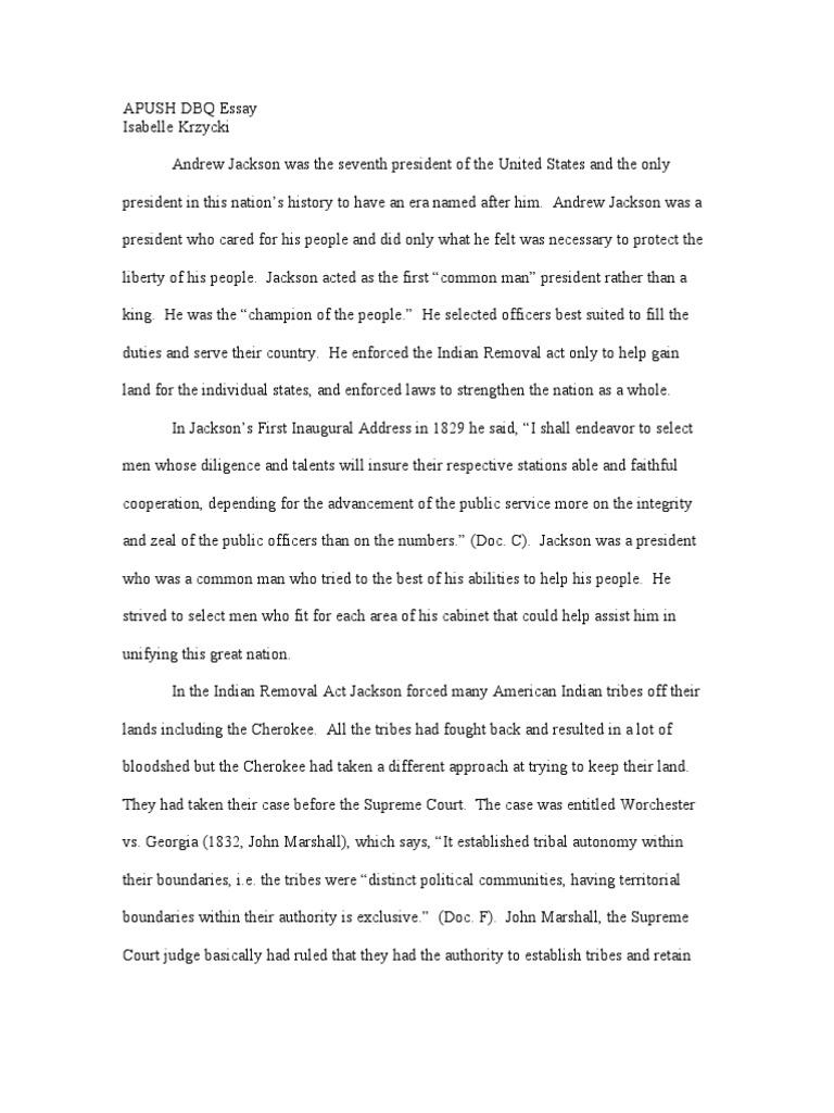 Essay Topics High School Hd Image Of Jacksonian Democracy Essay Mistyhamel Research Paper Essay Topics also Short Essays In English Andrew Jackson Democratic Dbq Essay  The Civil War Was Not  How To Write A High School Essay