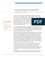 Spectrum Policy for Innovation