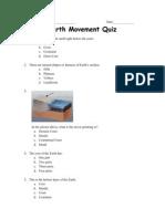 earth movement quiz