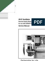 Penlon AV-S Ventilator - Service Manual