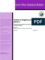 Crime in England and Wales 2010-11