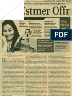 News Article in ET on Customer Loyalty - January 17-2011
