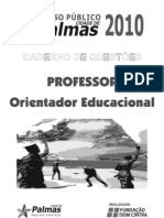 Professor Orient Ad Or Educacional Prova Palmas
