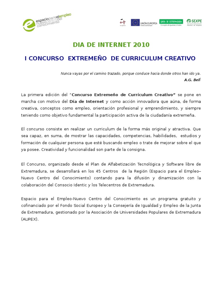 Bases Curriculum Creativo[1]