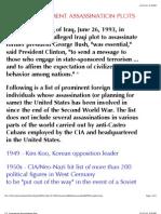U.S. Government Assassination Plots