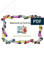 First Grade Open House Presentation