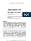 Chinese Multilateral Ism in E