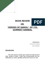 Book Review Heroes of Kargil