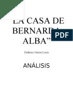 BERNARDA ALBA (Analisis Elenco)