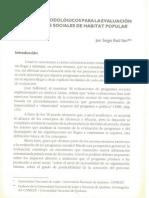 Criterios metodológicos para la evaluación de programas sociales de habitat popular - Sergio Raúl Ilari