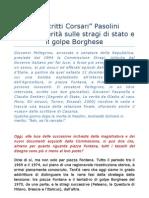 Pasolini fu assassinato per le dichiarazioni sulle Stragi di Stato