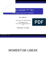 Fisika Dasar - Momentum Linear dan Tumbukan