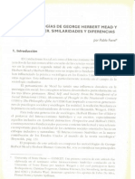 Las metodologías de George Herbert Mead y Herbert Blumer. Similaridades y diferencias - Pablo Forni