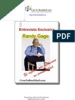 Entrevista Randy Gage