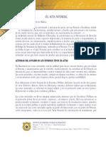 El Acta Notarial (Lic Nery Muñoz)