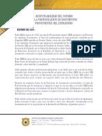 Responsabilidad del Notario en la Protocolación de Documentos Provenientes del Extranjero